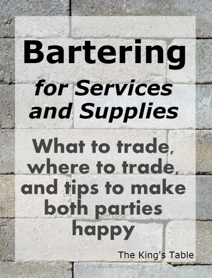 Bartering - What, where, and how to trade | The King's Table