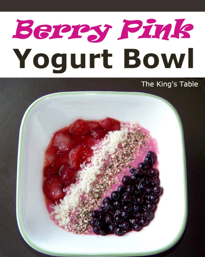 Berry Pink Yogurt Bowl with a Secret Ingredient -- an easy way to have a veggie with breakfast | The King's Table